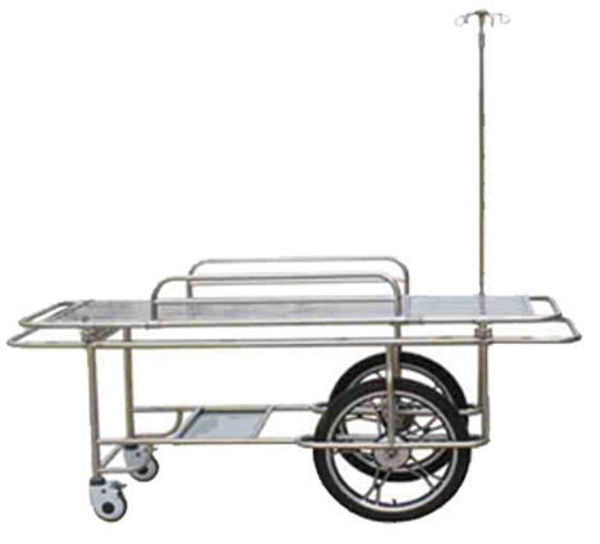 Picture of FC-3 Stainless Steel Wheeled Stretcher With Two Big And Small Wheels