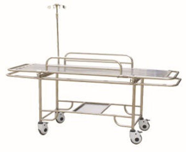 Picture of FC-4 Stainless Steel Stretcher Trolley With Four Small Wheels