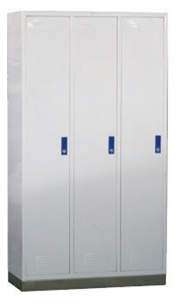 Picture of FG-49 Three-Door Clothes-Changing Cabinet With Stainless Steel Base