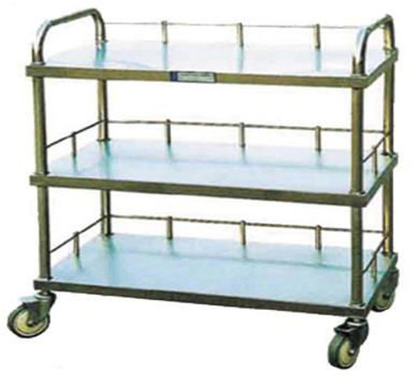 Picture of FC-15 Stainless Steel Sector Instrument Trolley With Three Layers