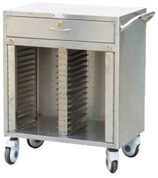 Picture of FC-45 Stainless Steel 40/50/60 Dossier Trolley